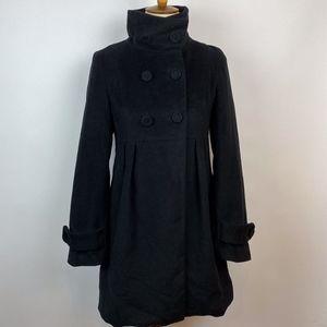 Anthro Emmelee Short Dress Coat Black size Medium
